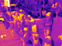 The audience in thermal IR (Credit: Mike Veto)
